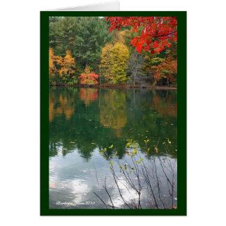 Subtle magnetism  in Nature: Walden Pond Card