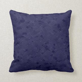 Subtle Midnight Blue Pattern Pillow
