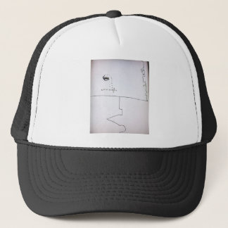 Subtle on the page hard on the mind trucker hat