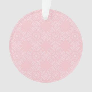 Subtle Pale Pink Geometric Floral