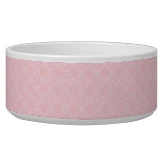 Subtle Pale Pink Geometric Floral Bowl
