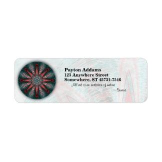 Subtle Passion Mandala • Avery Label
