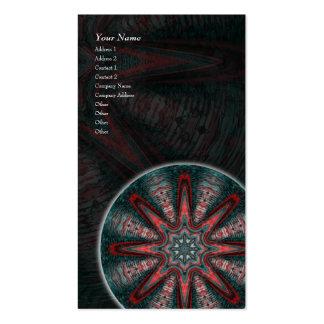Subtle Passion Mandala • Vertical Business Card