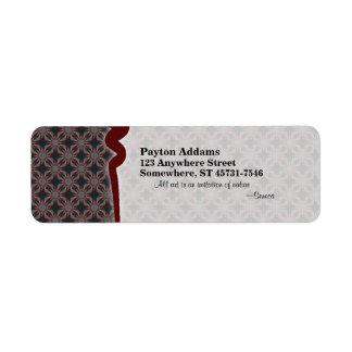 Subtle Passion Pattern • Avery Label