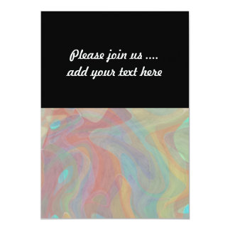 Subtle Pastel Watercolor Abstract Art Card