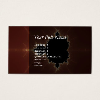 Subtle Power Fractal Business Card