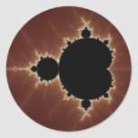 Subtle Power Fractal Classic Round Sticker