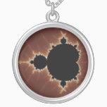 Subtle Power Fractal Silver Plated Necklace