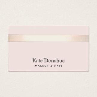 Subtle Rose Gold Striped Elegant Pink Pink Business Card