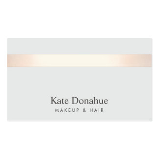 Subtle Rose Gold Striped Modern Stylish Gray 2 Double-Sided Standard Business Cards (Pack Of 100)