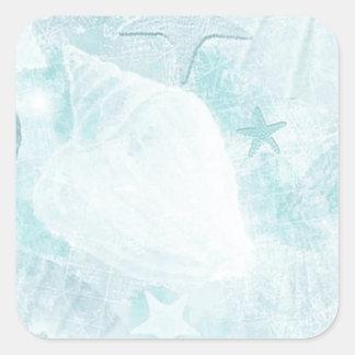 Subtle sea shells Graphic Art Square Sticker