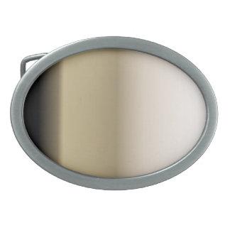 Subtle Shades of Beige to Black Oval Belt Buckle