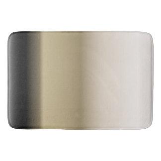 Subtle Shades of Beige to Black Ombre Gradient Bath Mat
