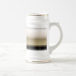 Subtle Shades of Beige to Black Ombre Gradient Beer Stein