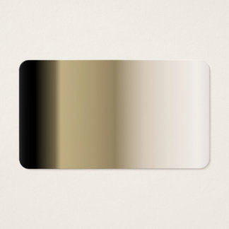 Subtle Shades of Beige to Black Ombre Gradient Business Card