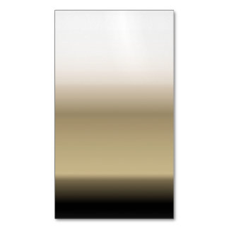 Subtle Shades of Beige to Black Ombre Gradient Business Card Magnet