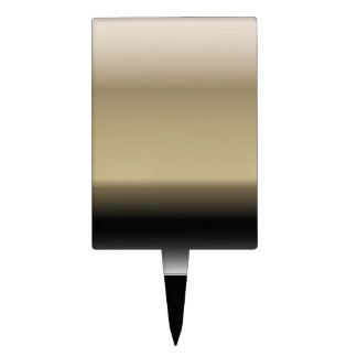 Subtle Shades of Beige to Black Ombre Gradient Cake Topper
