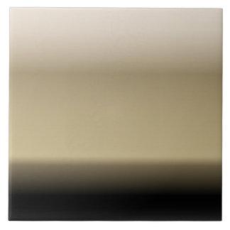 Subtle Shades of Beige to Black Ombre Gradient Ceramic Tile