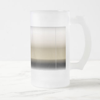Subtle Shades of Beige to Black Ombre Gradient Frosted Glass Beer Mug
