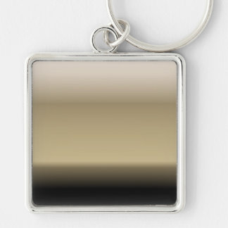 Subtle Shades of Beige to Black Ombre Gradient Keychain