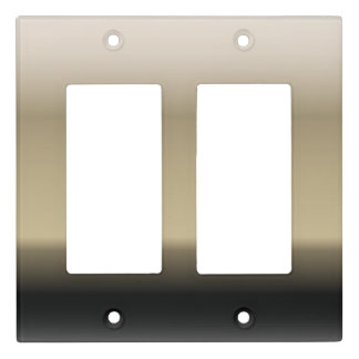 Subtle Shades of Beige to Black Ombre Gradient Light Switch Cover