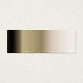 Subtle Shades of Beige to Black Ombre Gradient Mini Business Card