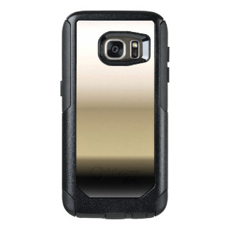 Subtle Shades of Beige to Black Ombre Gradient OtterBox Samsung Galaxy S7 Case