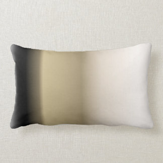 Subtle Shades of Beige to Black Ombre Gradient Pillow