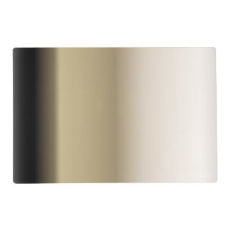Subtle Shades of Beige to Black Ombre Gradient Placemat