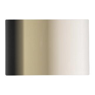 Subtle Shades of Beige to Black Ombre Gradient Placemat