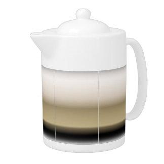 Subtle Shades of Beige to Black Ombre Gradient Teapot