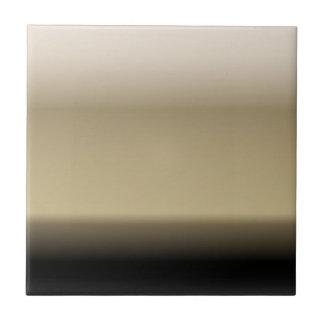 Subtle Shades of Beige to Black Ombre Gradient Tile
