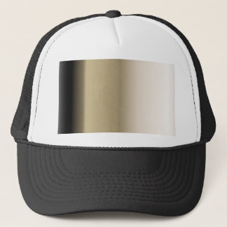 Subtle Shades of Beige to Black Ombre Gradient Trucker Hat