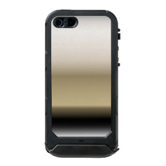 Subtle Shades of Beige to Black Ombre Gradient Waterproof iPhone SE/5/5s Case