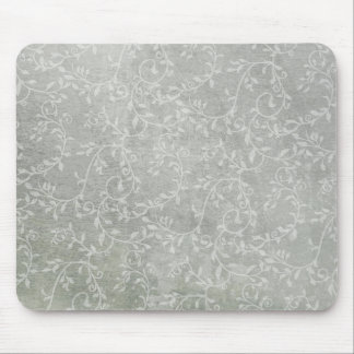 Subtle & Silvery Leafy Vines Mouse Pad