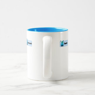 Subtle Sipper... Connect or Disconnect with Others Two-Tone Coffee Mug