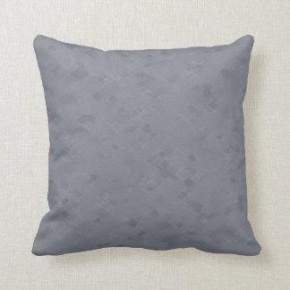 Subtle Slate Gray Pattern Pillow