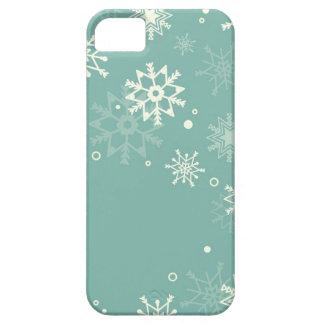 Subtle snowflakes pastel background iPhone 5 case