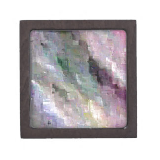 Subtle Stormy Pixelated  Pop Abstract Gift Box