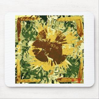 Subtle sunflower mouse pad