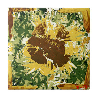 Subtle sunflower tile