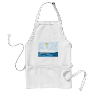Subtle Swans in Love (heart shapes) Art Gifts Aprons