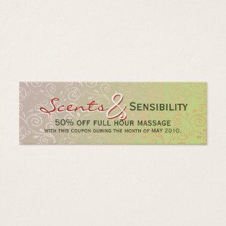 Subtle Swirls Mini Business Card