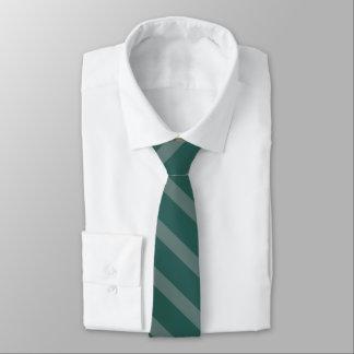 Subtle Teal Shades Striped Tie