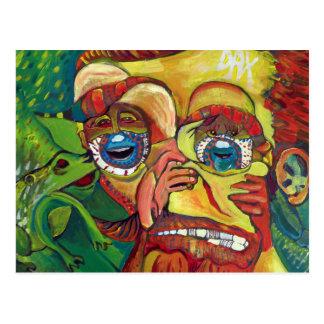 Subtle Vincent Van Gogh optical illusion Postcard