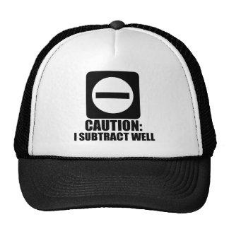 Subtract 1 Black Mesh Hats
