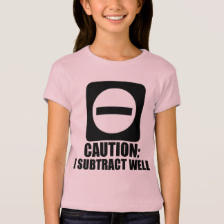 Subtract 1 Black T-Shirt
