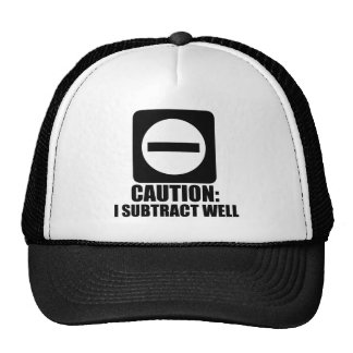 Subtract 1 Black Trucker Hat