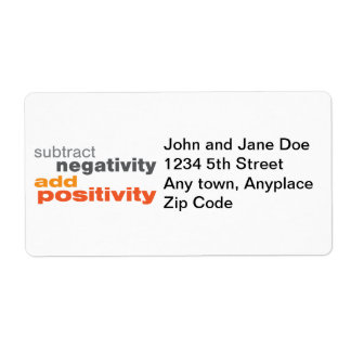 Subtract Negativity and Add Positivity Label