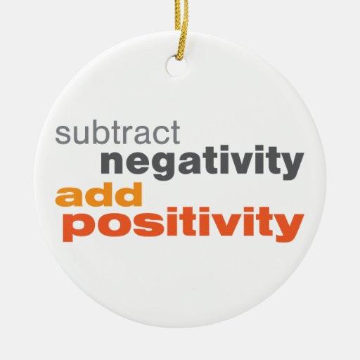 Subtract Negativity and Add Positivity Ornament